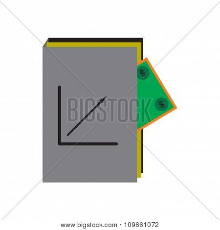 Modern flat icon financial report on white background
