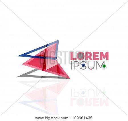 Logo, abstract geometric business icon. illustration