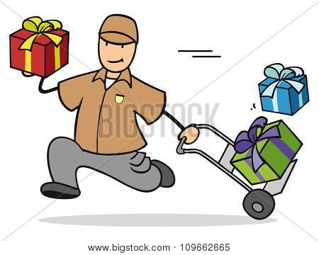 Fast gift delivery for christmas with parcel service