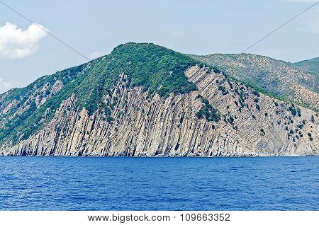 View Of The Ligurian Coastline Near Cinque Terre