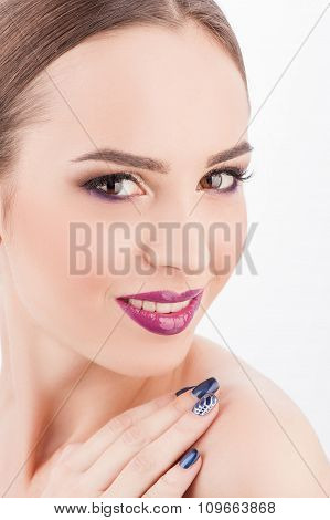 Beautiful female model is expressing positive emotions
