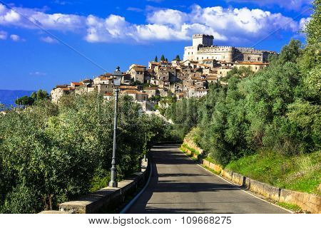 medieval villages of Italy - Sermoneta with castle Caetani