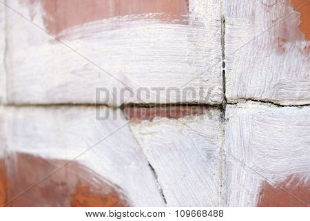 Background of old cracked brick  wall