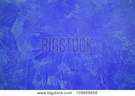 Abstract Painting Background In Blue Color