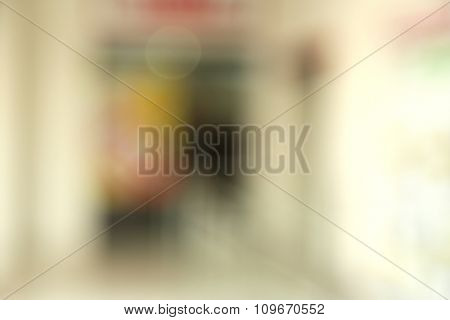 Store, shopping mall decorations on blurred background