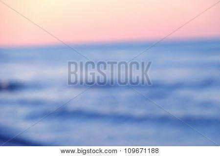 Calm sea in the evening
