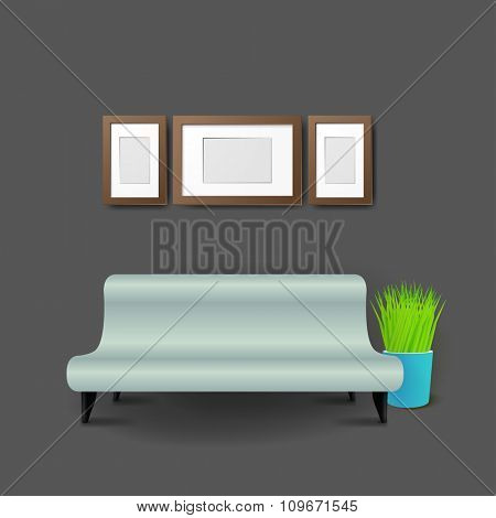 Modern Business conversation room mockup template.