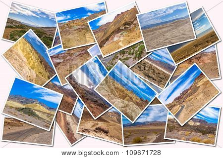 Death Valley pictures collage