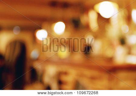 Cafe blurred lights background