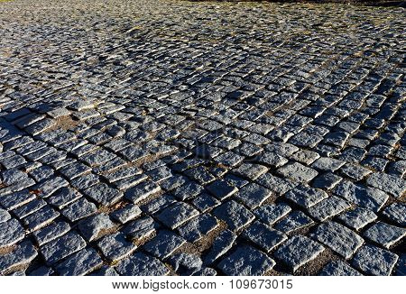 Street Of Cobblestones Of Geghard