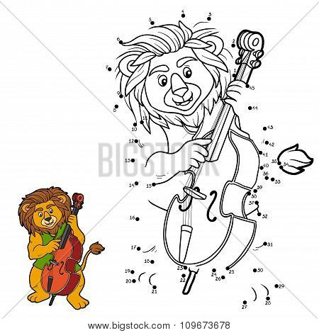 Numbers Game For Children: Lion And Cello