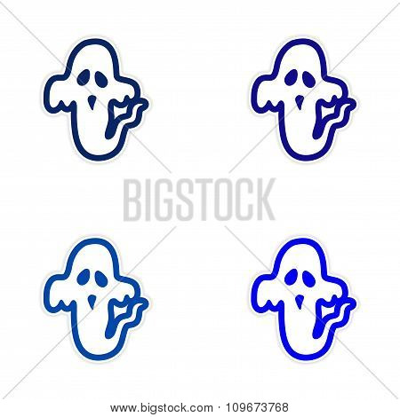 assembly sticker ghost color on a white background