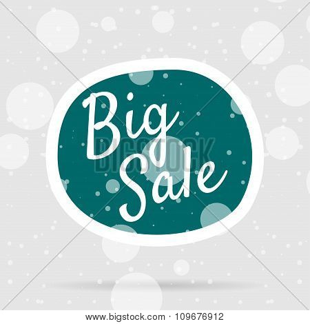 Christmas big Sale Bubble on Snow Background