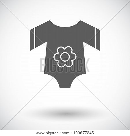 Baby clothes flat icon