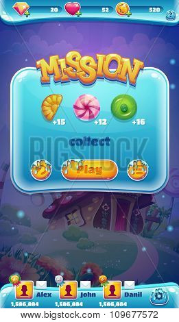 Sweet world mobile GUI mission collect