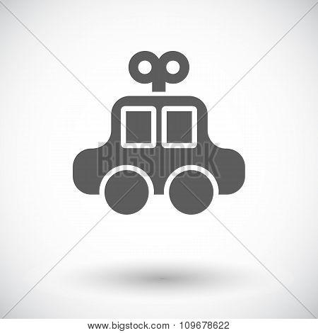 Car toy flat icon