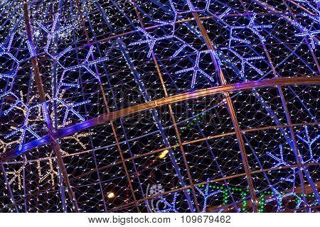 Christmas Illumination In City Street