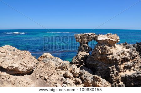 Limestone and Ocean Views at Cape Peron, Western Australia