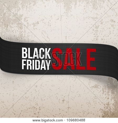 Black Friday Sale bend Ribbon