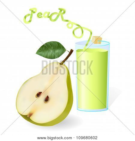 Fresh ?ocktail Pear With Tube