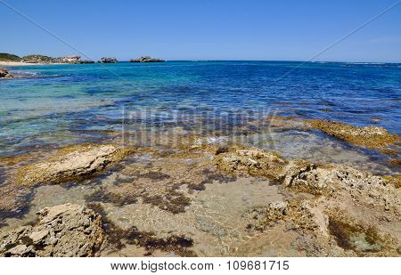 Beach Reef and Ocean Landscape: Cape Peron, Western Australia