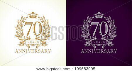 70 anniversary luxury logo.
