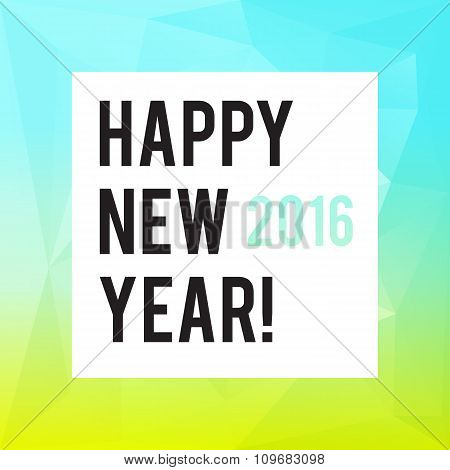 Square New Year design with polygonal gradient background