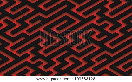 The maze, black labyrinth - endless