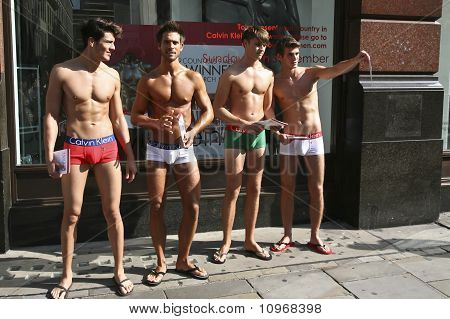 Calvin Klien underwear models