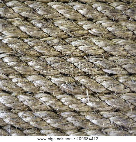 Close-up shot texture of old ropes for background