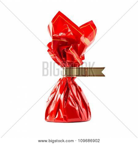 Candy in red wrapper