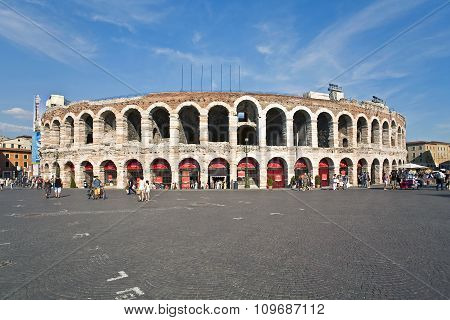 Famous Arena In Verona