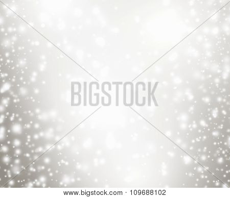 Abstract Sparkle Christmas Background With Snowflakes And Star And Space For You Design