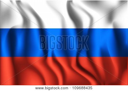 Flag Of Russia. Rectangular Shape Icon