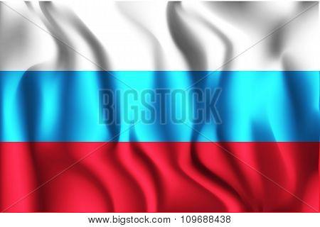 Russia Variant Flag. Rectangular Shape Icon