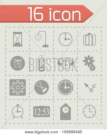 Vector Time icon set