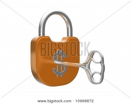 Locking The Us Dollar Currency Lock With Key