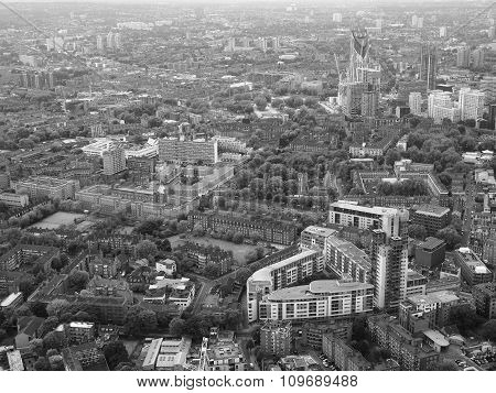 Black And White Aerial View Of London