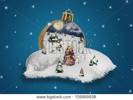 Wonderland in a christmas ball