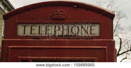 English phone booth