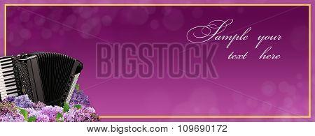 Luxury music banner