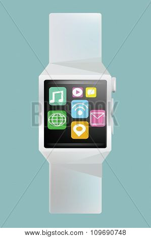 PrintVector - Smart watch concept with simple user interface