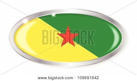 French Guiana Flag Oval Button