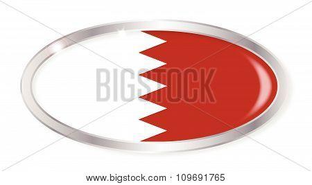 Bahrain Flag Oval Button