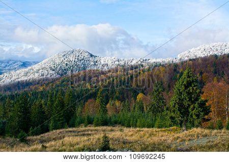 Winter Mountains Landscape