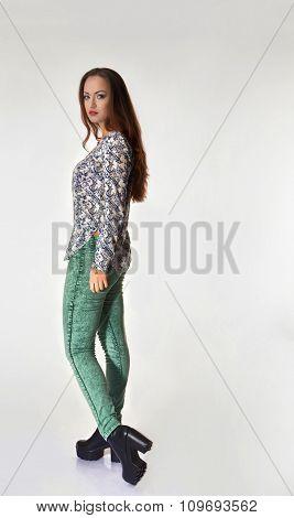 Young ukrainian girl standing with nice pose