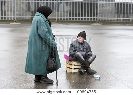 Beggars In Saint Petersburg