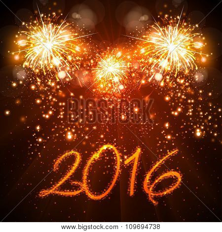 Happy New Year 2016 Celebration Background