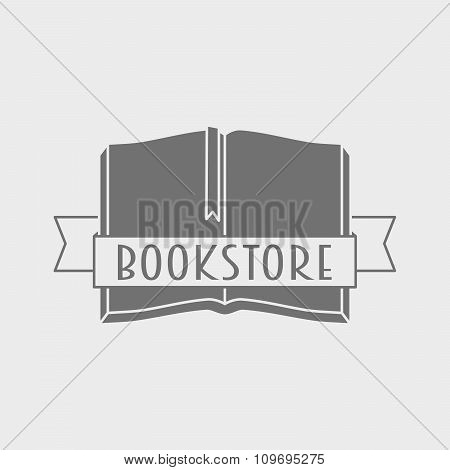 Vector Logo Concept Of Bookstore Or Library