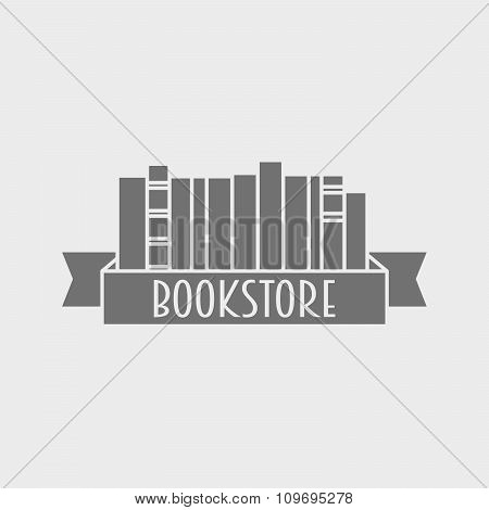 Library Or Bookstore Logotype Concept. Can Be Used To Design Cards, Posters, Flyers, Store Windows.